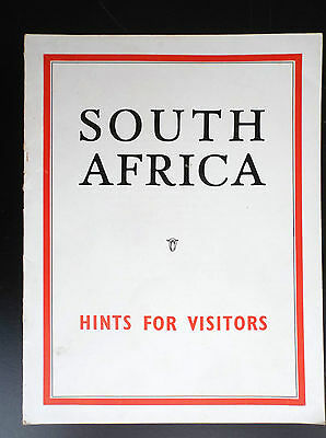 RARE Brochure South Africa Hints for Visitors