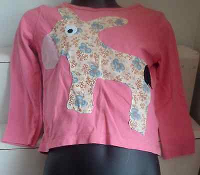Pink Children's T-shirt with floral Donkey