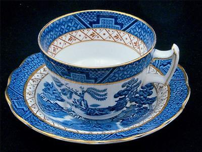 Booths Real Old Willow Gilded Cup & Saucer