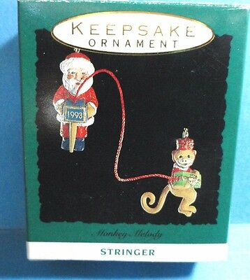 "Hallmark ""Monkey Melody""  Miniature Ornament 1993"