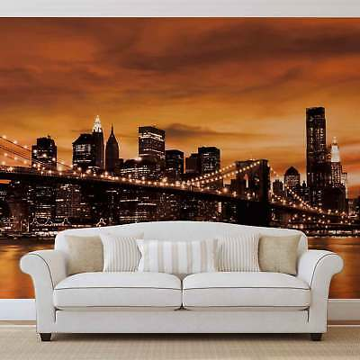 WALL MURAL PHOTO WALLPAPER PICTURE (228VE) New York Brooklyn Bridge City