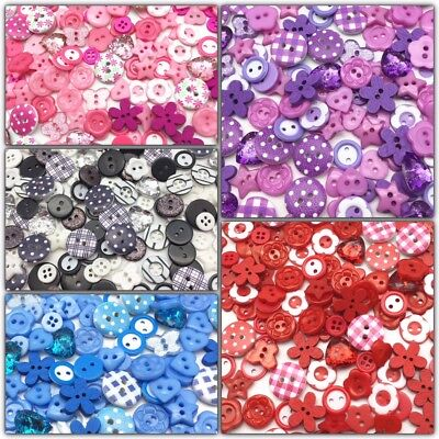 150 Quality Wooden Acrylic Resin Embellishment Buttons Cardmaking Scrapbooking
