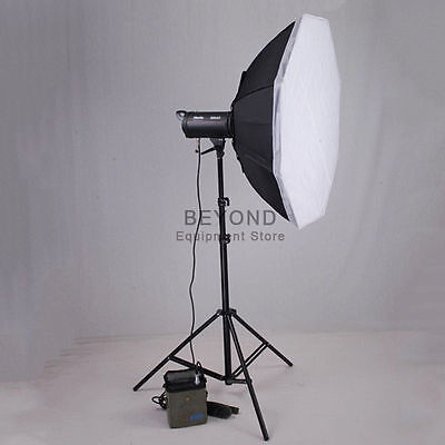 600W Dual Power Flash Strobe Battery Speedlite Photography Lighting Set Outdoor