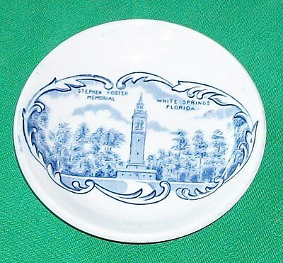 STEPHEN FOSTER MEMORIAL WHITE SPRING FLORIDA CHINA PLATE MEAKIN STAFFORDSHIRE UK