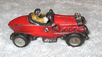 HUBLEY Style Vintage Cast Iron Race Car replica - aged style paint