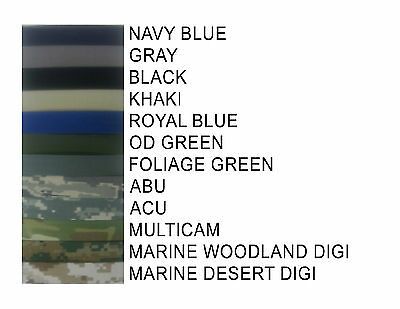 Military name tapes MIL SPEC  FOR TACTICAL HATS - UNIFORMS - GEAR  3 TO 6 INCH