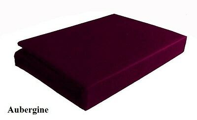 EXTRA DEEP 26'' FITTED VALANCE SHEET Aubergine King Bed Size Percale 200 Thread