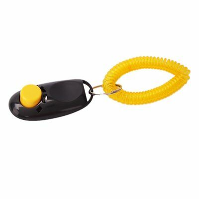 New Black High Quality Comfortable Dog Click Clicker Training Trainer AA