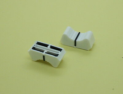 10 x Slide Potentiometer Mixer Fader Knob 25mmLx11mmW for 18.5mm Shaft White