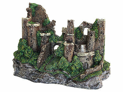 Large Castle Ruins Aquarium Decoration Fish Tank Vivarium Ornament 29cm AQ28340