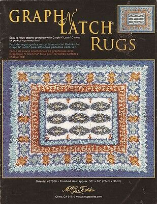 GRAPH N LATCH RUGS.. ORIENTAL # 37508 Easy to Follow Graphs