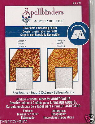 Spellbinders M-Bossabilities Reversible Embossing Folder Sea Beauty ES-007