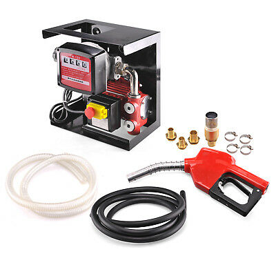 Electric Oil Transfer Pump w/ Meter | 110V Diesel Fuel Manual Nozzle Hose