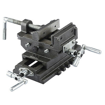 "Cross Slide Vise 6"" inch Wide Drill Press X - Y Clamp Milling Heavy Duty"