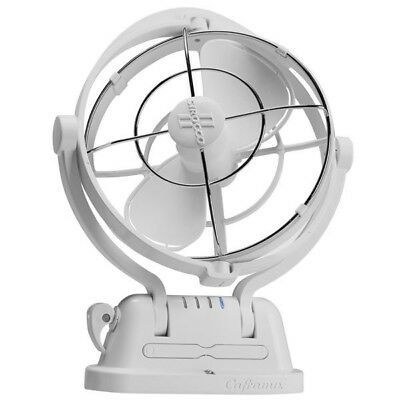 Fan 12/24 Volt White Caravan/Boat/RV CAFRAMO SIROCCO II Ultra Quiet 360 Airflow