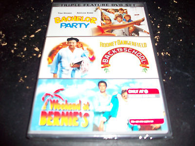 COMEDY TRIPLE FEATURE: BACHELOR PARTY, BACK TO SCHOOL & WEEKEND AT BERNIES!!!!!!