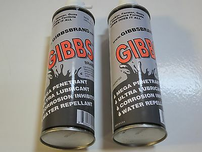 Gibbs Brand Lubricant Gun Cleaner & Lubricant, Penetrant, Degreaser  Water Repel
