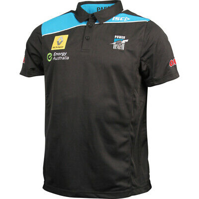Port Adelaide Power AFL Black Performance Polo Shirt 'Select Size' S-5XL BNWT5