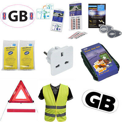 European And French car Driving Travel Kits For Motoring In Europe EU aboard aa