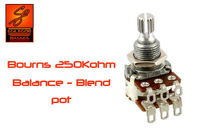 Bourns 250k dual potentiometer blend - balance  resistor for guitar or bass