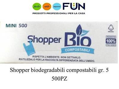 Shopper Biodegradabili Compostabili Mini Gr.5  Pz 500