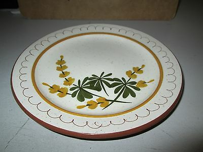 """Vintage Stangl Pottery Golden Blossom Hand Painted Salad Plate 8"""""""
