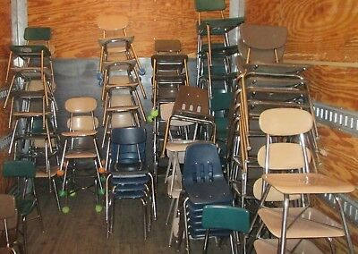 CLOSEOUT USED STUDENT CHAIRS - MANY STYLES - DESKS/TABLES TOO! 100'S Can ship!