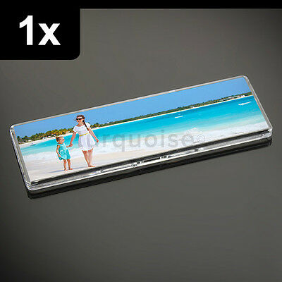 1x Premium Quality Clear Acrylic Blank Fridge Magnets 141 x 45 mm Size Photo