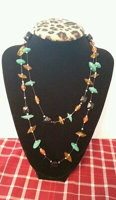 Ornate Glass Bead Necklace SCA Viking