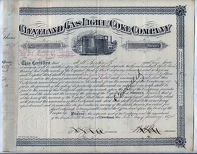 Cleveland Gas Light & Coke Company Stock Certificate