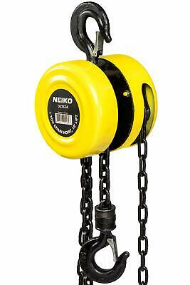 "Chain Hoists 1 Ton 15' Foot Lift, Chain Dia 1/4"" Inch w/ Mechanical Load Brake"