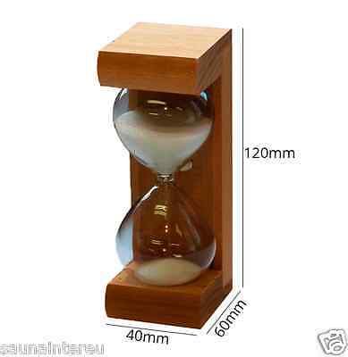 Sauna Wooden Hourglass Sand Timer. Running time 15 minutes. Made in Finland