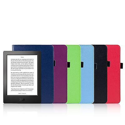 NEW PU LEATHER CASE COVER FOR NEW KOBO AURA H2O eReader + TOUCH PEN