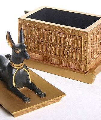 Anubis Jackal Dog Egyptian Treasure Box from Tut's Tomb - E-305GP