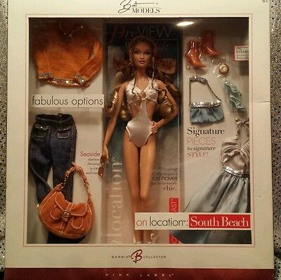 On Location South Beach Barbie Best Models Model Muse Pink Label 2005 MINT