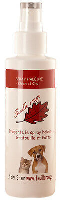 Feuille rouge - Spray haleine dentifrice chien et chat - 125 ml