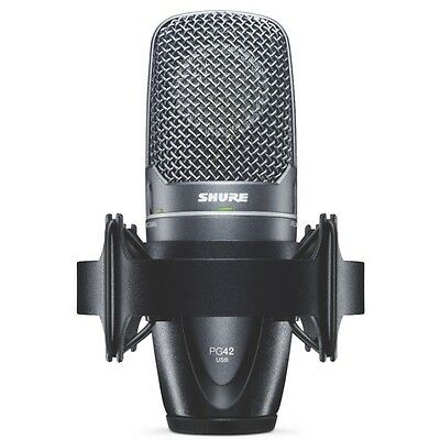 Shure PG42-USB Digital Recording Plug Play Cardioid Condenser Vocal Microphone