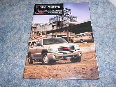 2003 Gmc Light Commercial Trucks Vans Utilities Dealer Sales Brochure
