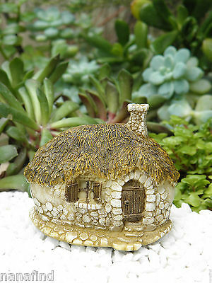 Miniature Dollhouse FAIRY GARDEN ~ Small Thatched Roof Fairy House Cottage ~ NEW