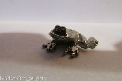 Pewter  Frog Figurine Made In USA