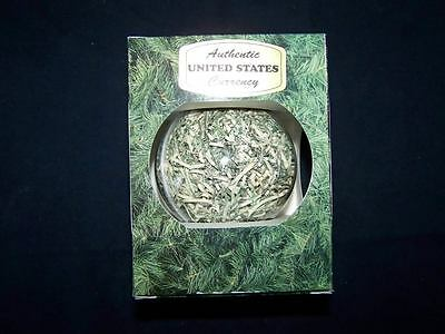 Christmas Onament Made of Shredded Authentic United States Paper Money Currency