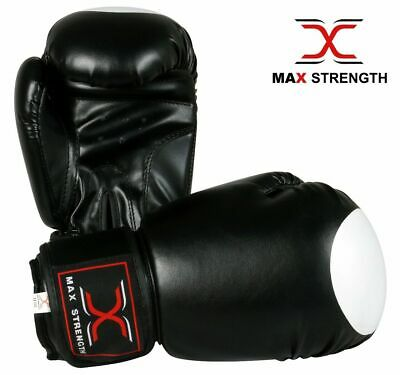 Boxing Gloves Punch Bag Mitts Training Pad MMA Punching Target Print Rex Leather