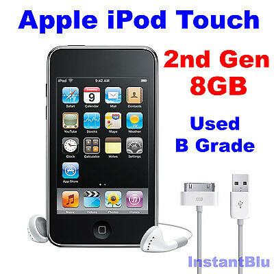 iPod Touch 8GB 2nd Generation Apple Black Used B Grade MP3 Music Player Gift