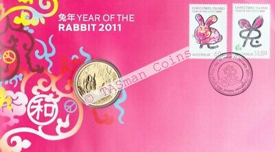 Australia/Christmas Island 2011 - Lunar New Year RABBIT PNC - Perth Mint $1 Coin