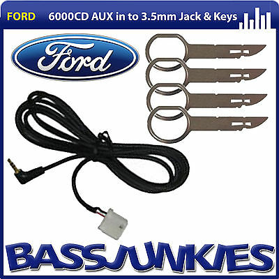 ford focus mk2 2005 on 6000cd car stereo aux in cable to 3. Black Bedroom Furniture Sets. Home Design Ideas