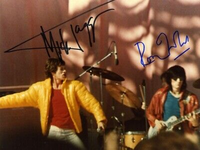 Mick Jagger & Ron Wood ++ Autogramm  ++ The Rolling Stones ++ Autograph