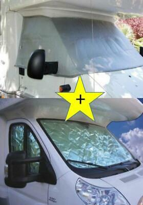 Thermal external + int blinds windscreen cover CABIN Fiat Ducato 2002-2006