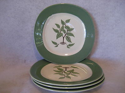 """Taylor Smith Taylor """"Coffee Tree"""" - BREAD & BUTTER DESSERT PLATES - SET of (4)"""