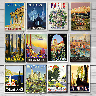 Vintage Retro Travel Poster-A4-60 to choose from Great quality- BUY 3 GET 2 FREE