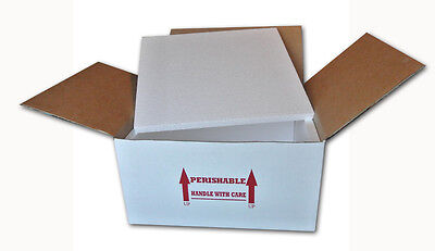 "Insulated Shipping Box  16"" x 16"" x 8""    With 1/2"" Foam   1 Pack"